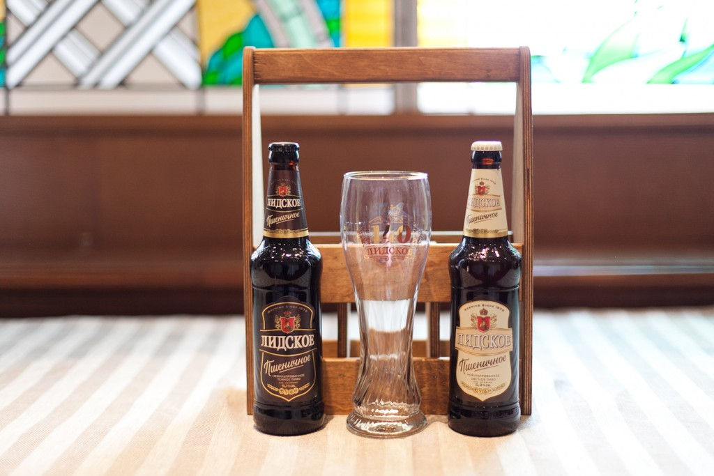 Souvenir set: branded case with two bottles of new Lidskoe beer and an exclusive glass